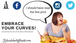 Blog Graphic depicting a woman binge eating